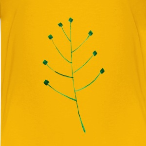 Calligraphic Illustration Leaf, Twig, Plant 1 - Kids' Premium T-Shirt
