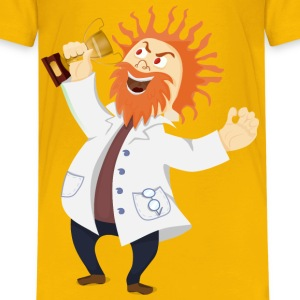 Mad scientist with a trophy - Kids' Premium T-Shirt