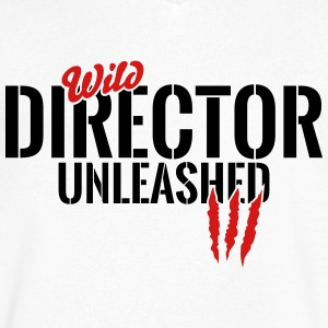 wild director unleashed T-Shirts - Men's V-Neck T-Shirt by Canvas