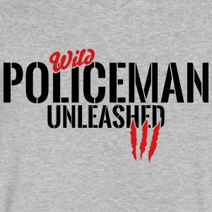wild policeman unleashed T-Shirts - Men's V-Neck T-Shirt by Canvas