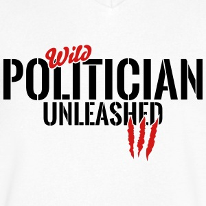Wild politician unleashed T-Shirts - Men's V-Neck T-Shirt by Canvas