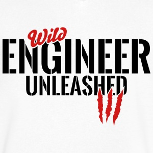 wild engineer unleashed T-Shirts - Men's V-Neck T-Shirt by Canvas