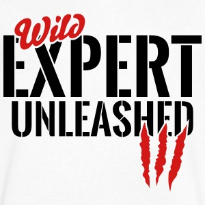 wild expert unleashed T-Shirts - Men's V-Neck T-Shirt by Canvas