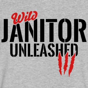 wild janitor unleashed T-Shirts - Men's V-Neck T-Shirt by Canvas