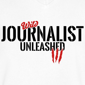 wild journalist unleashed T-Shirts - Men's V-Neck T-Shirt by Canvas