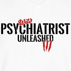 wild psychiatrist unleashed T-Shirts - Men's V-Neck T-Shirt by Canvas