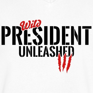 Wild president unleashed T-Shirts - Men's V-Neck T-Shirt by Canvas