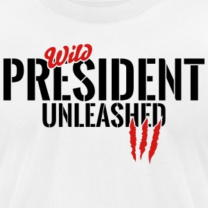 Wild president unleashed T-Shirts - Men's T-Shirt by American Apparel