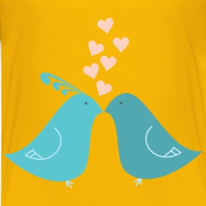 Flat Shaded Love Birds - Kids' Premium T-Shirt