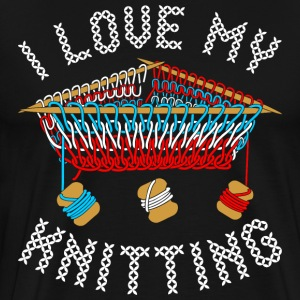 I Love My Knitting T-Shirts - Men's Premium T-Shirt