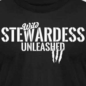 Wild stewardess unleashed T-Shirts - Men's T-Shirt by American Apparel