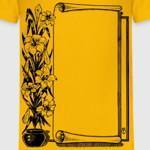 Flower Pot Scroll Frame - Kids' Premium T-Shirt