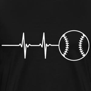 Baseball Pulse T-Shirts - Men's Premium T-Shirt