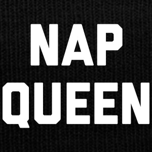 Nap Queen Funny Quote Sportswear - Knit Cap with Cuff Print