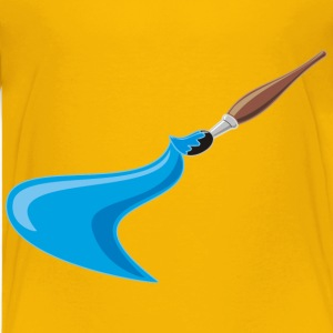 Artists Brush And Paint - Kids' Premium T-Shirt