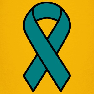 Teal Ovarian Cancer Ribbon - Kids' Premium T-Shirt