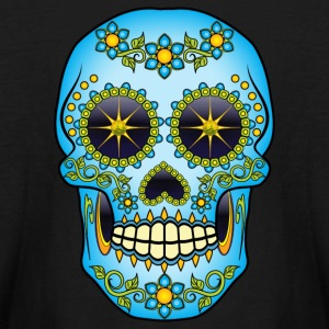 Blue Floral Sugar Skull Kids' Shirts - Kids' Long Sleeve T-Shirt