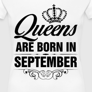 Queens Are Born In September Tshirt T-Shirts - Women's Premium T-Shirt