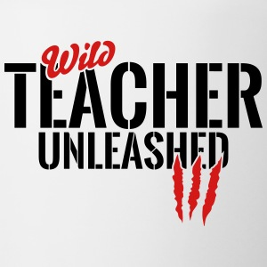 Wild teacher unleashed Mugs & Drinkware - Contrast Coffee Mug
