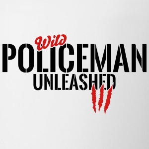 wild policeman unleashed Mugs & Drinkware - Coffee/Tea Mug