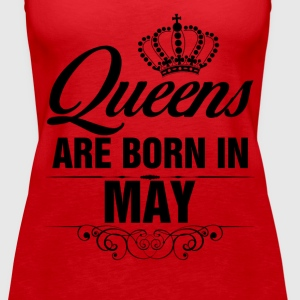 Queens Are Born In May Tshirt Tanks - Women's Premium Tank Top