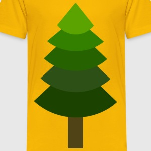 TREE PINE or Geometric, green hues, flat yet 3D! - Kids' Premium T-Shirt
