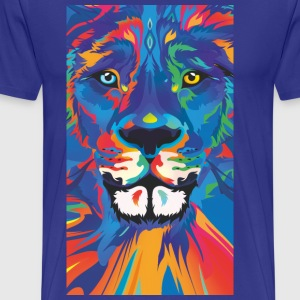 vivid color lion - Men's Premium T-Shirt