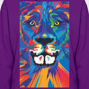 vivid color lion - Women's Hoodie