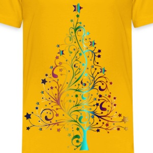 Starry Christmas Tree Prismatic No Background - Kids' Premium T-Shirt