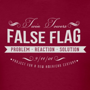 Twin Towers False Flag - Men's T-Shirt