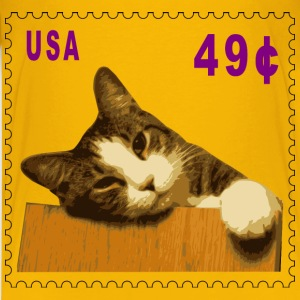 Cat stamp (49 cents) - Kids' Premium T-Shirt