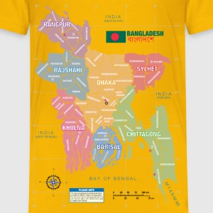 Bangladesh District Map - Kids' Premium T-Shirt