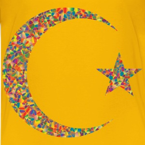 Polyprismatic Tiled Crescent And Star - Kids' Premium T-Shirt
