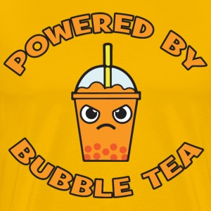 Powered By Bubble Tea (Orange) T-Shirts - Men's Premium T-Shirt
