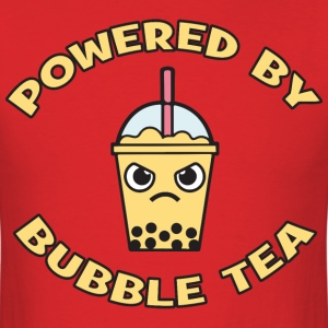Powered By Bubble Tea (Mango) T-Shirts - Men's T-Shirt