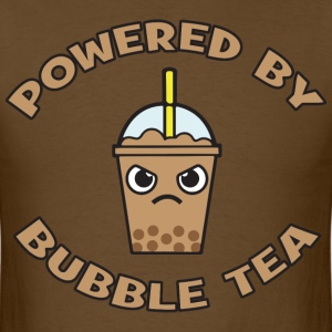 Powered By Bubble Tea (Mocha) T-Shirts - Men's T-Shirt
