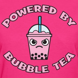 Powered By Bubble Tea (Mango) T-Shirts - Women's T-Shirt
