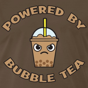 Powered By Bubble Tea (Mocha) T-Shirts - Men's Premium T-Shirt