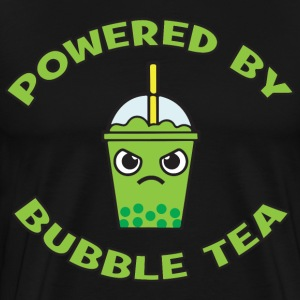 Powered By Bubble Tea (Green Tea) T-Shirts - Men's Premium T-Shirt