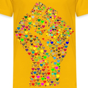 Colorful Fist Of Love 2 - Kids' Premium T-Shirt