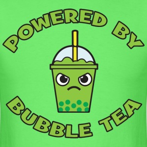 Powered By Bubble Tea (Green Tea) T-Shirts - Men's T-Shirt