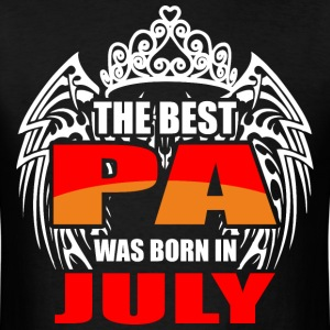 The Best Pa was Born in July - Men's T-Shirt