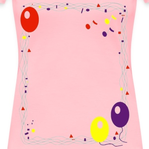 Balloon Border - Women's Premium T-Shirt