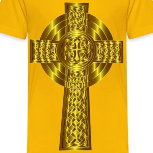 Golden Celtic Cross 6 - Kids' Premium T-Shirt