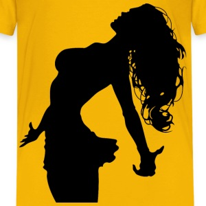 Wild Hair Woman Silhouette - Kids' Premium T-Shirt