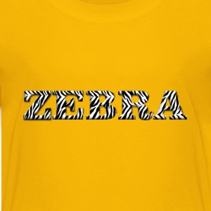 Zebra Typography Enhanced 3 - Kids' Premium T-Shirt