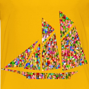 Polychromatic Tiled Sailboat - Kids' Premium T-Shirt