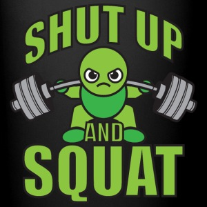 Shut Up And Squat - Kawaii Weightlifter (green) Mugs & Drinkware - Full Color Mug