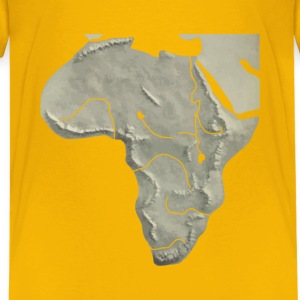 Africa relief map - Kids' Premium T-Shirt