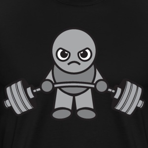 Cute Kawaii Weightlifter Deadlift (grey) T-Shirts - Men's Premium T-Shirt